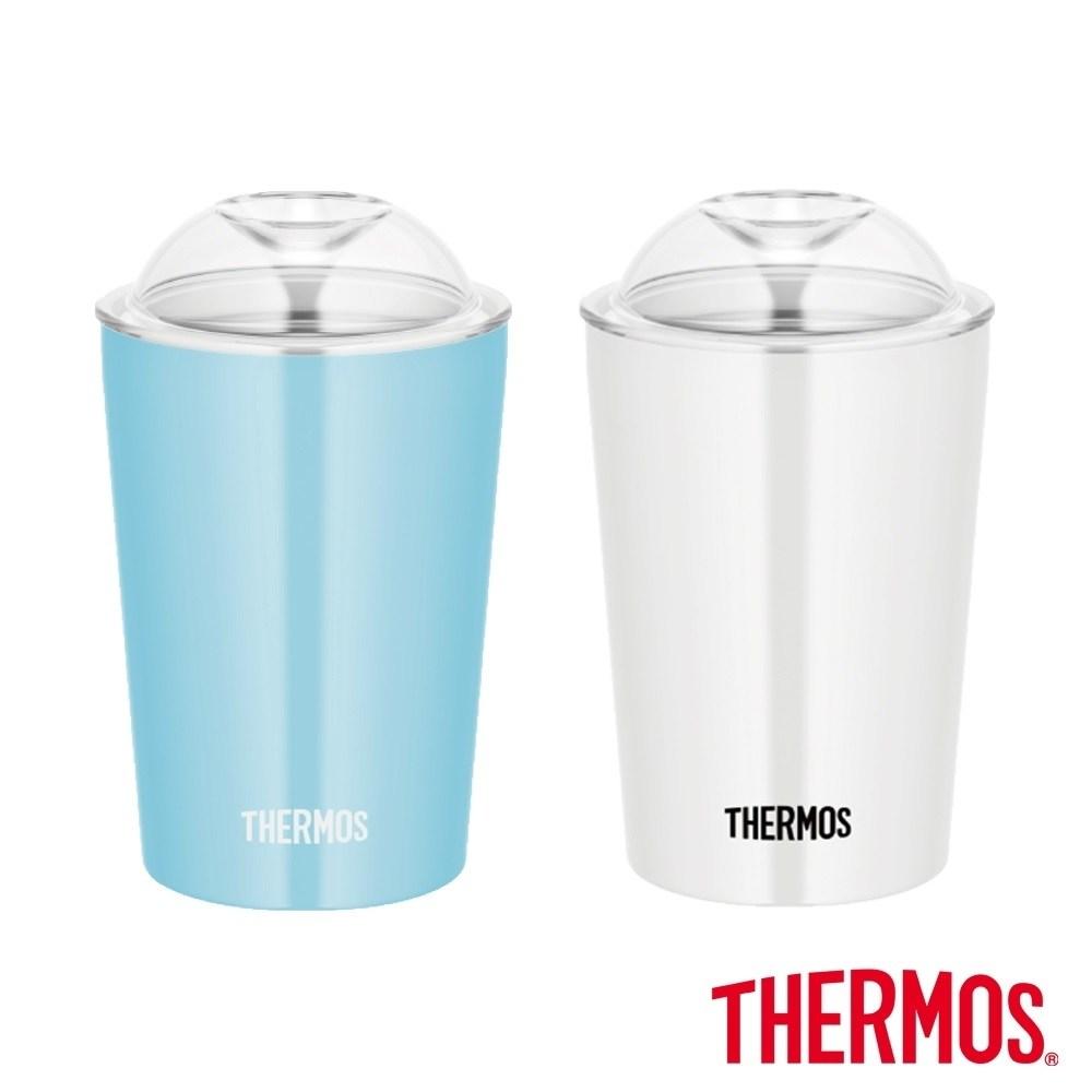 買一送一【THERMOS 膳魔師】不鏽鋼真空杯0.3L(JDJ-300)淺藍色2入