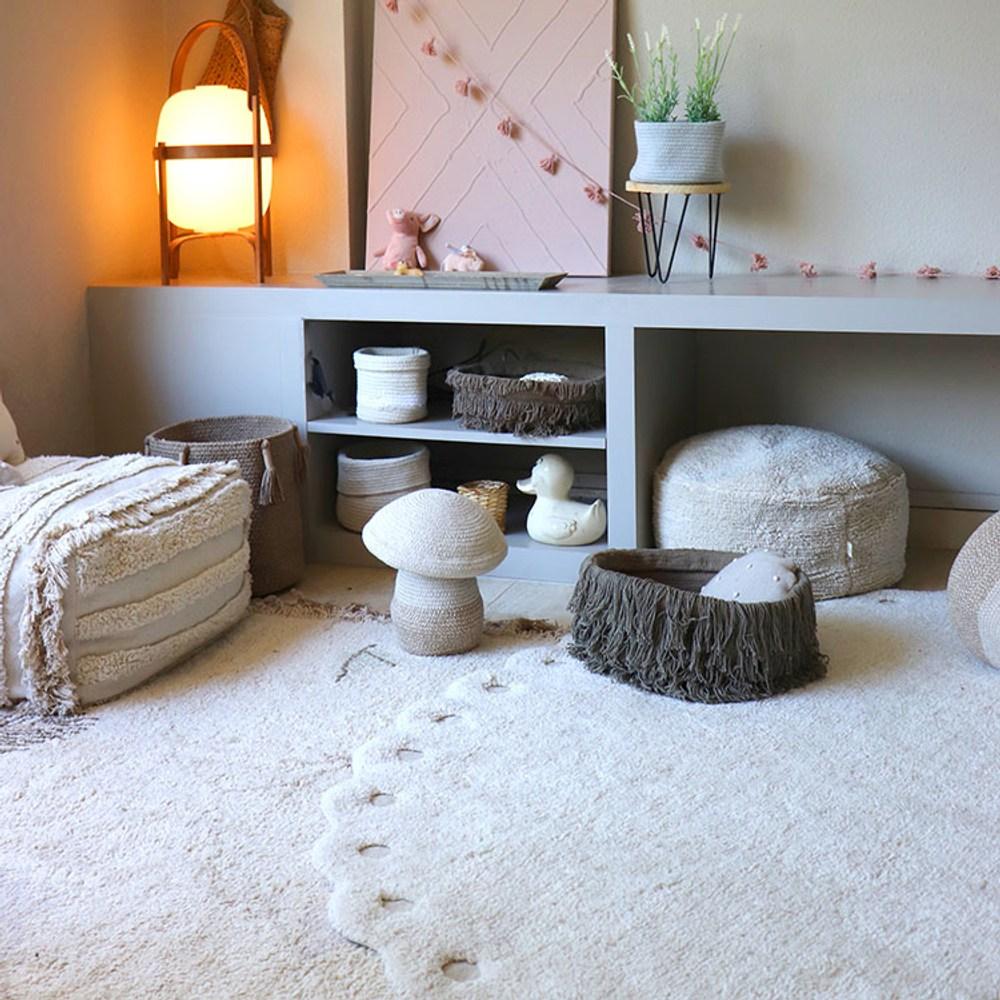 西班牙Lorena Canals小松毬地毯-月光白