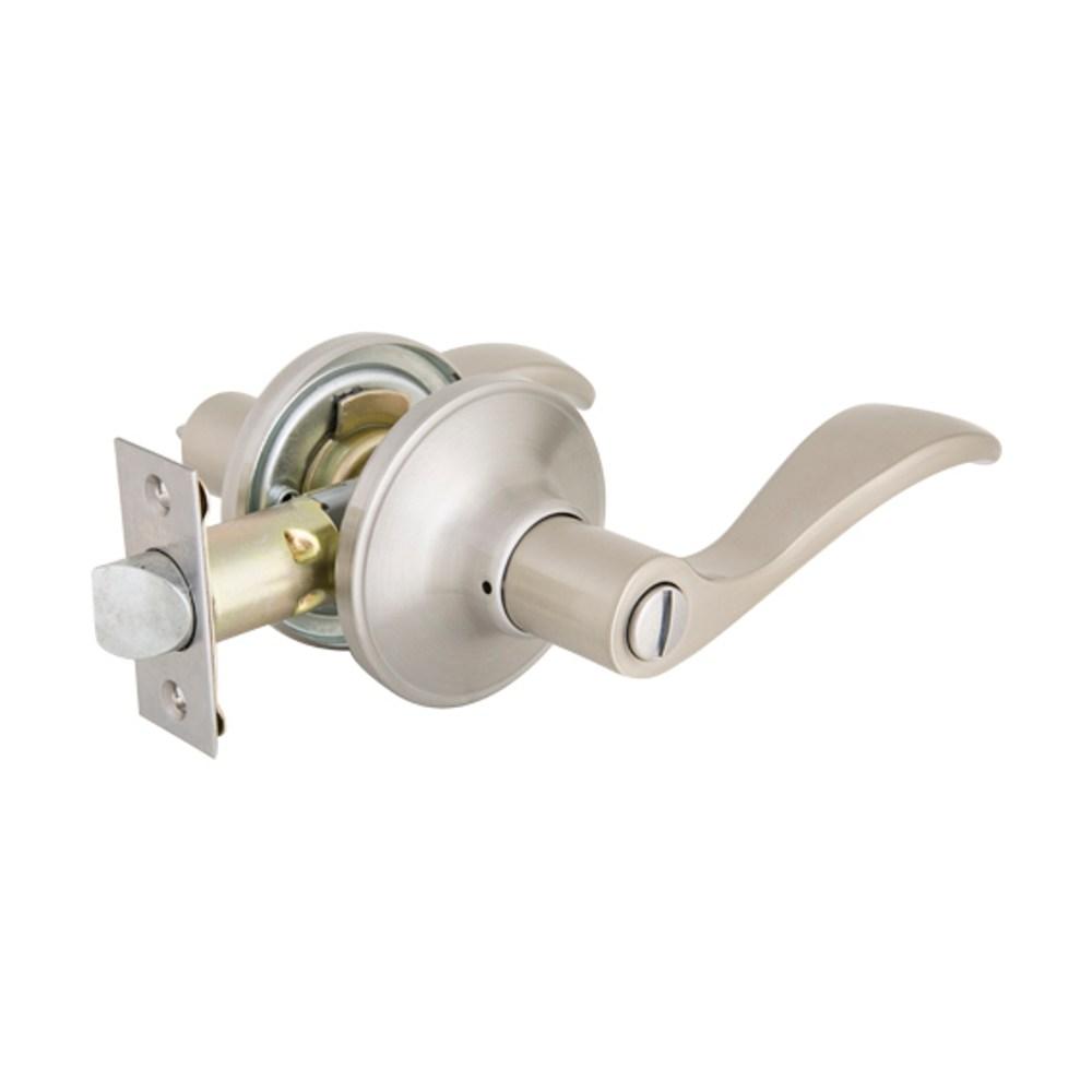 加安牌 水平浴廁鎖(自動解閂)不鏽鋼磨砂色TLYE60G