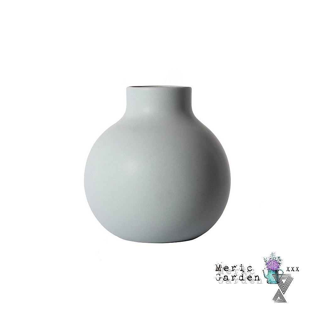 【Meric Garden】北歐啞光釉創意陶瓷花瓶/花器_莫蘭迪灰L