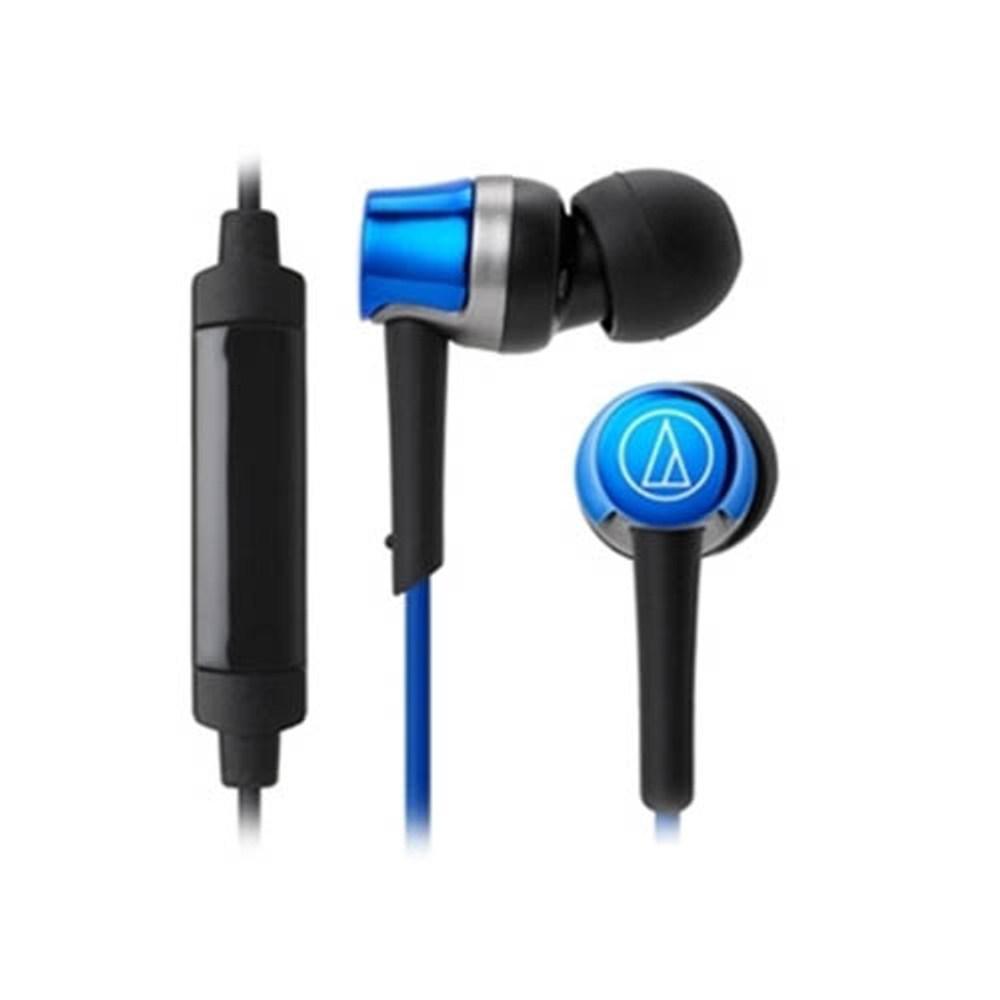 鐵三角 ATH-CKR30iS 藍 輕量耳道式耳機 智慧型專用線控