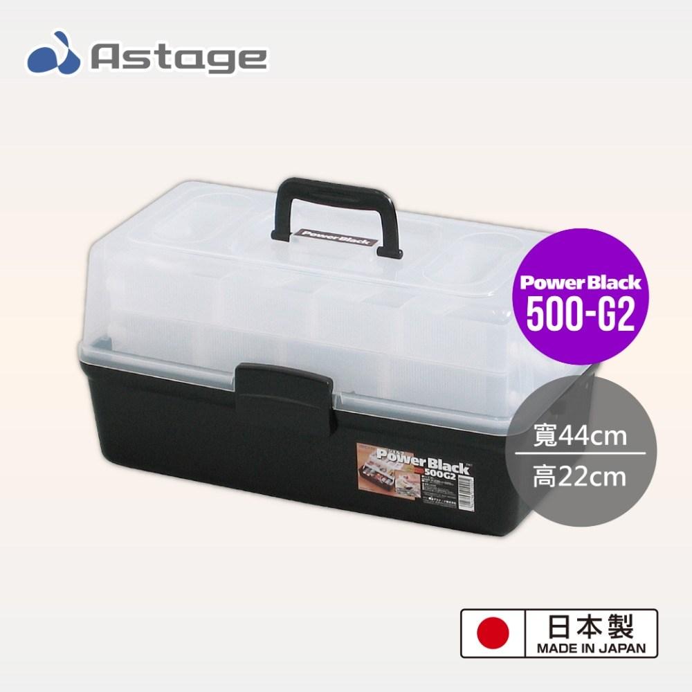 日本 Astage Power Black 多功能2層收納箱 500-G2型