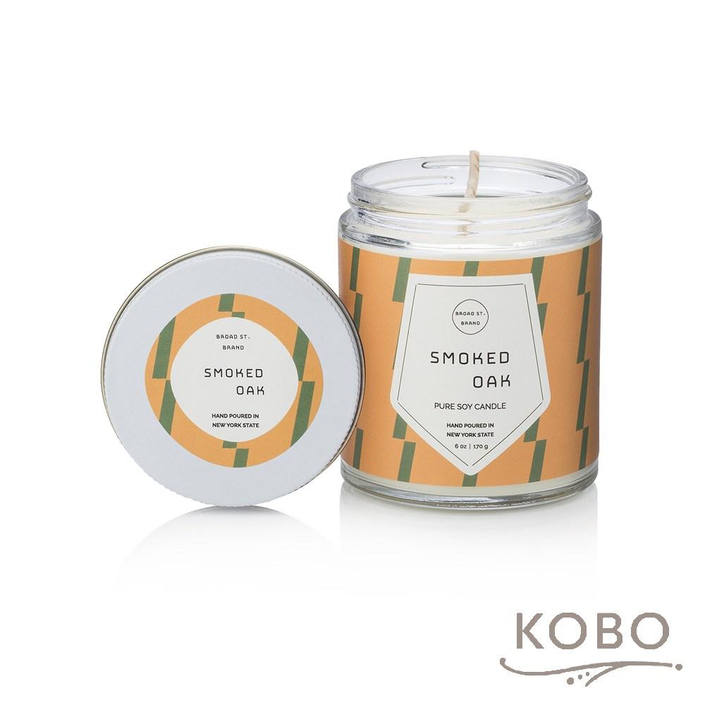 【KOBO】 美國大豆精油蠟燭-煙燻橡木-170g/可燃燒35hr