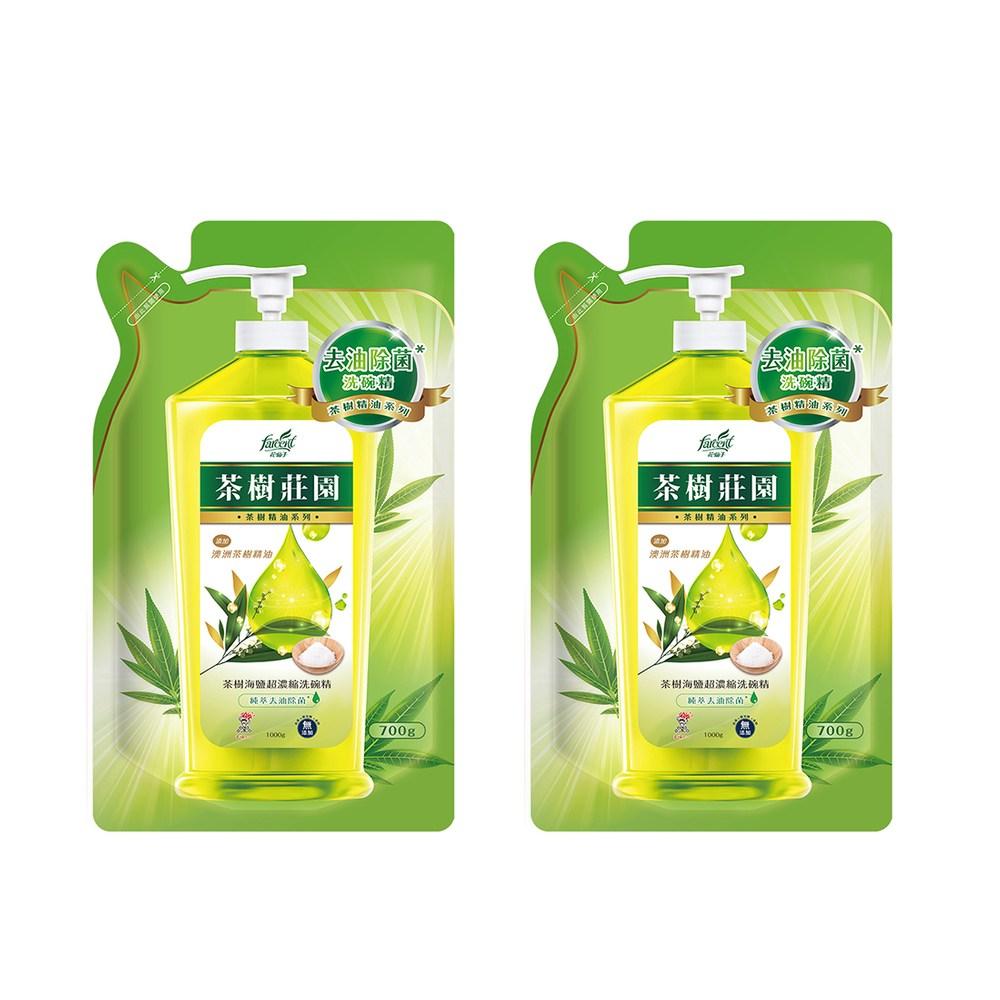 (組)茶樹莊園-茶樹海鹽超濃縮洗碗精補充包2入