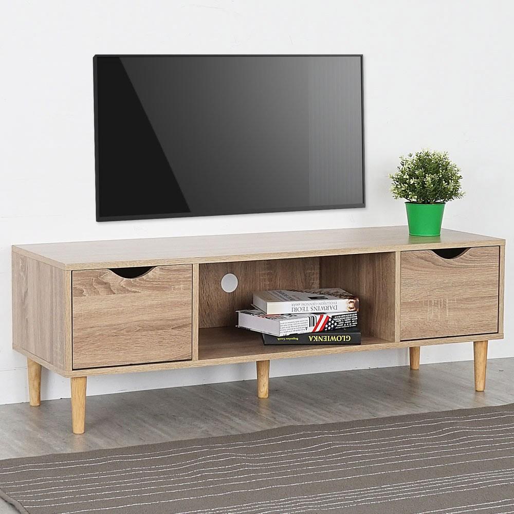 Homelike 卡雅二抽電視櫃-原木