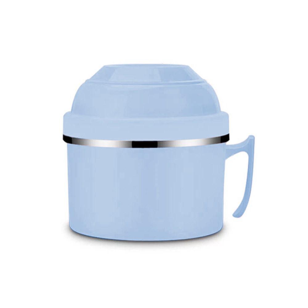 HOLA 304不鏽鋼雙層隔熱快餐杯1200ML-藍