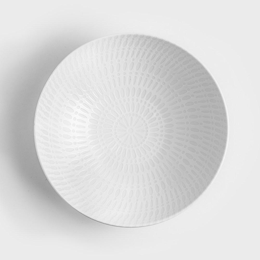 WAGA 新古典 圓點同花21cm陶瓷圓碗