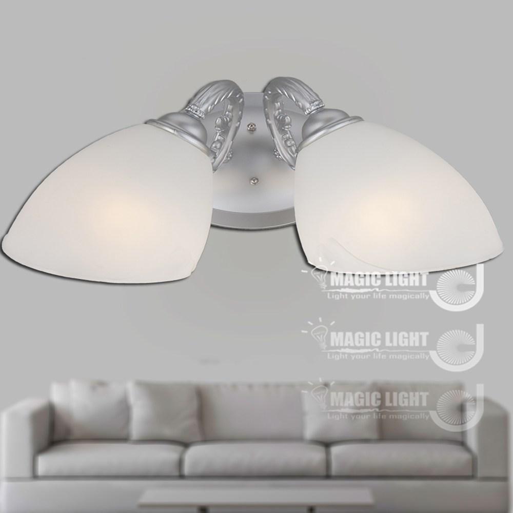 【光的魔法師 】歐式鄉村牛角雙壁燈 時尚銀 (安全燈具)