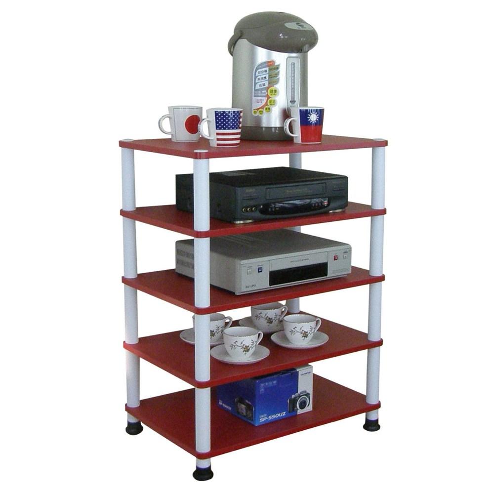 【頂堅】五層收納架/置物架/電器架-寬60x深40公分-三色可選喜氣紅色