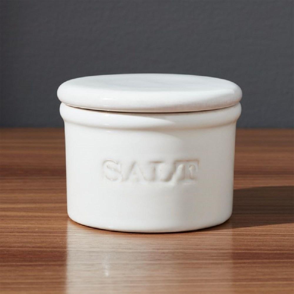 Crate&Barrel Ceramic 鹽罐
