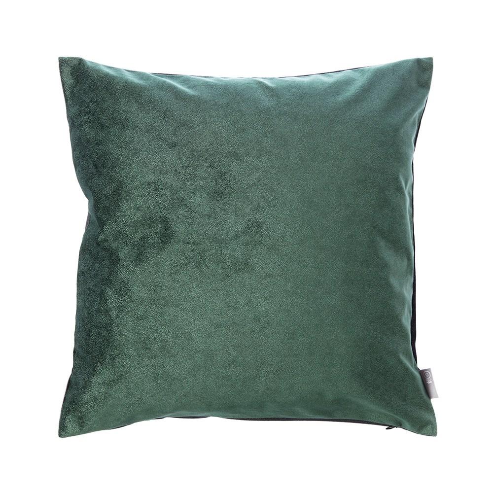 HOLA 素色星悅雙色抱枕50x50cm 深綠色