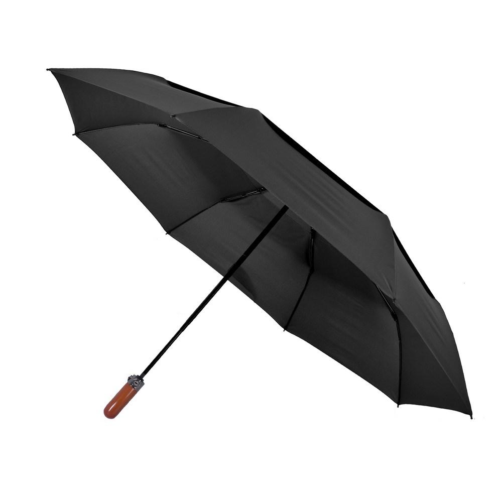 2mm 紳士潮流雙層抗風 超大傘面自動開收傘_靜瑟黑