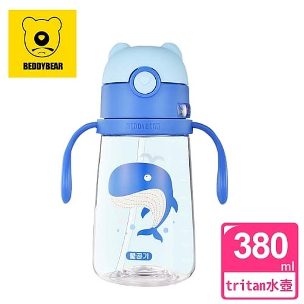 【韓國 BEDDY BEAR】學飲系列可背式兒童水壺380ML(鯨魚)單一規格