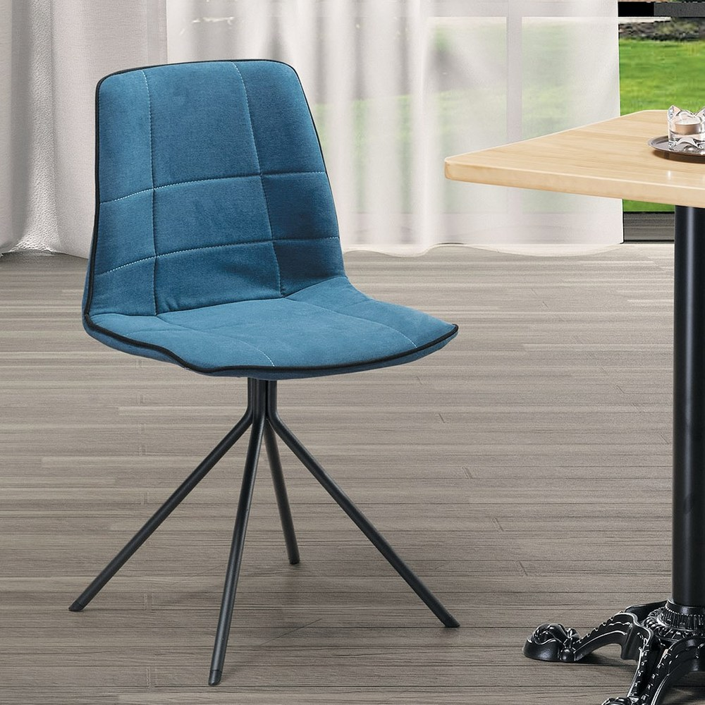 特洛伊藍色造型餐椅