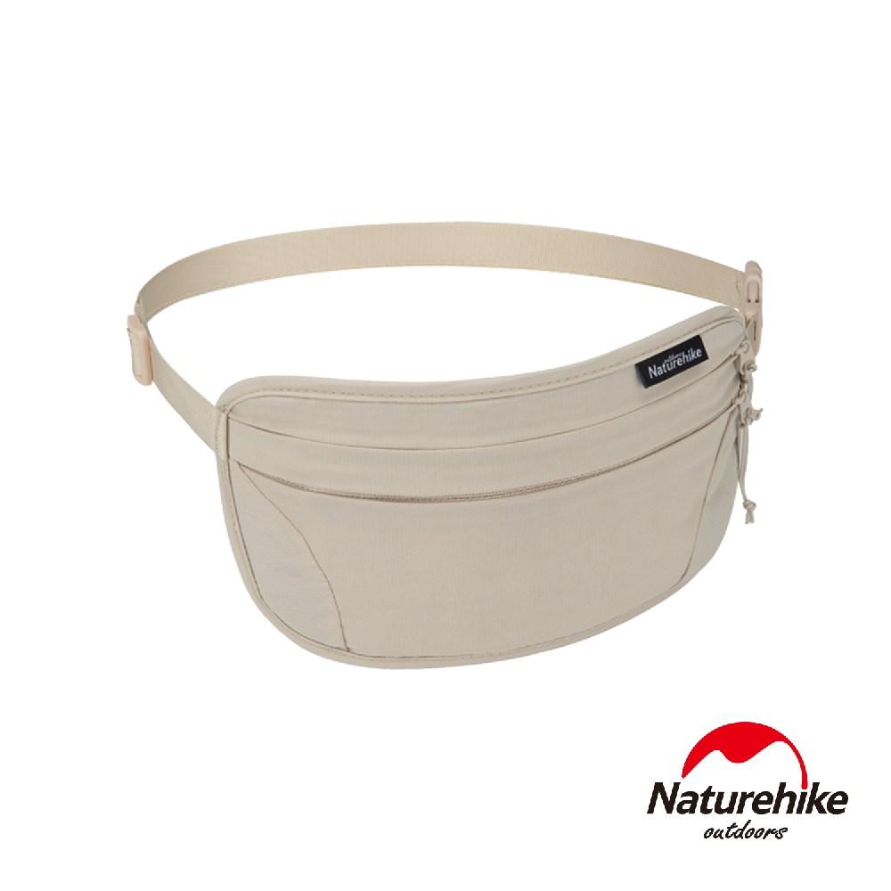 Naturehike 旅行用防潑水防盜刷貼身腰包 胸前包卡其