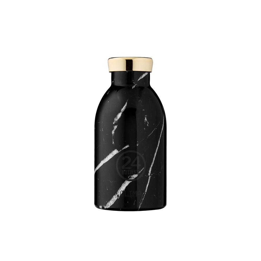義大利 24Bottles 不鏽鋼雙層保溫瓶330ml - 黑雲石