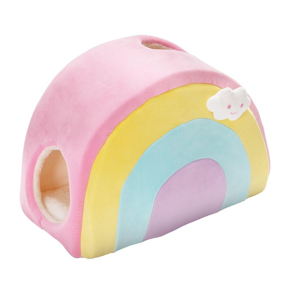 JohoE嚴選 彩虹獨角獸寵物狗窩貓窩彩虹寵物屋