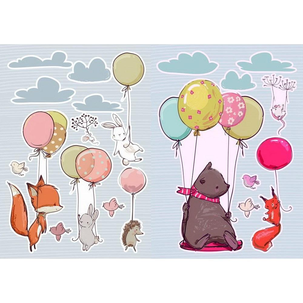 義大利HOME DÉCOR卡通貼飾2圖入-汽球動物C18308