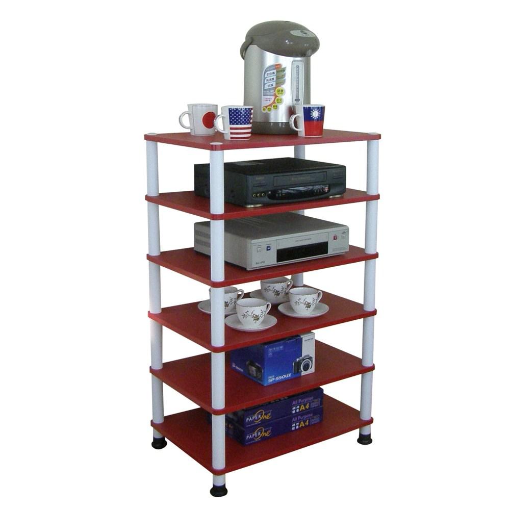 【頂堅】六層收納架/置物架/電器架-寬60x深40公分-三色可選喜氣紅色