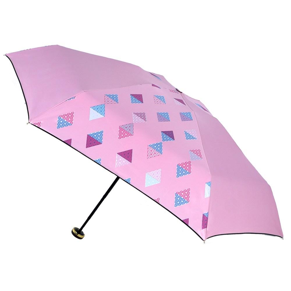 2mm 100%遮光 采漾印花黑膠降溫五折手開傘_幾何