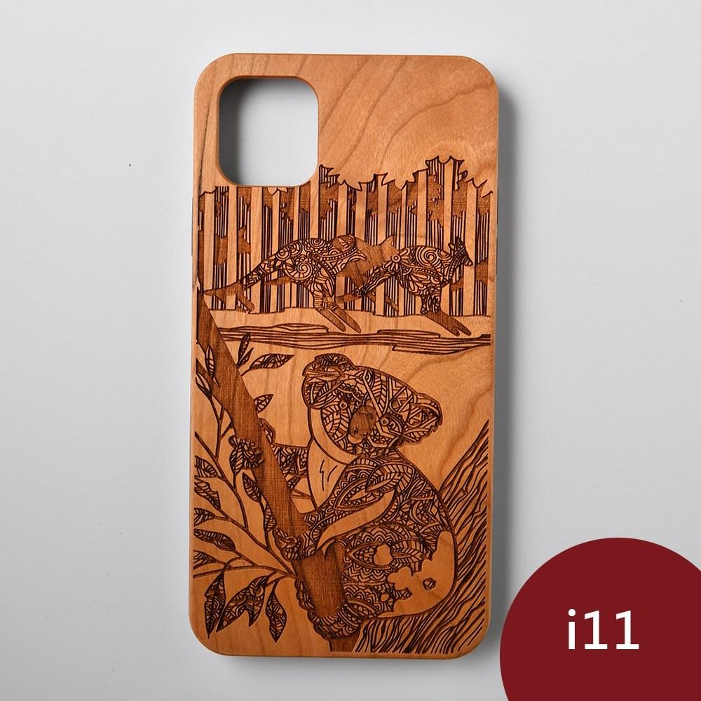 Woodu 木製手機殼 萌系無尾熊 iPhone 11適用