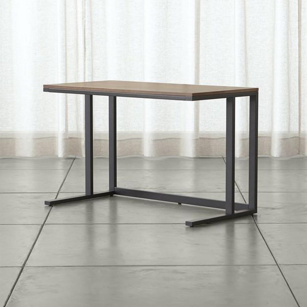 Crate&Barrel Pilsen 桌子/胡桃木桌面 石墨黑