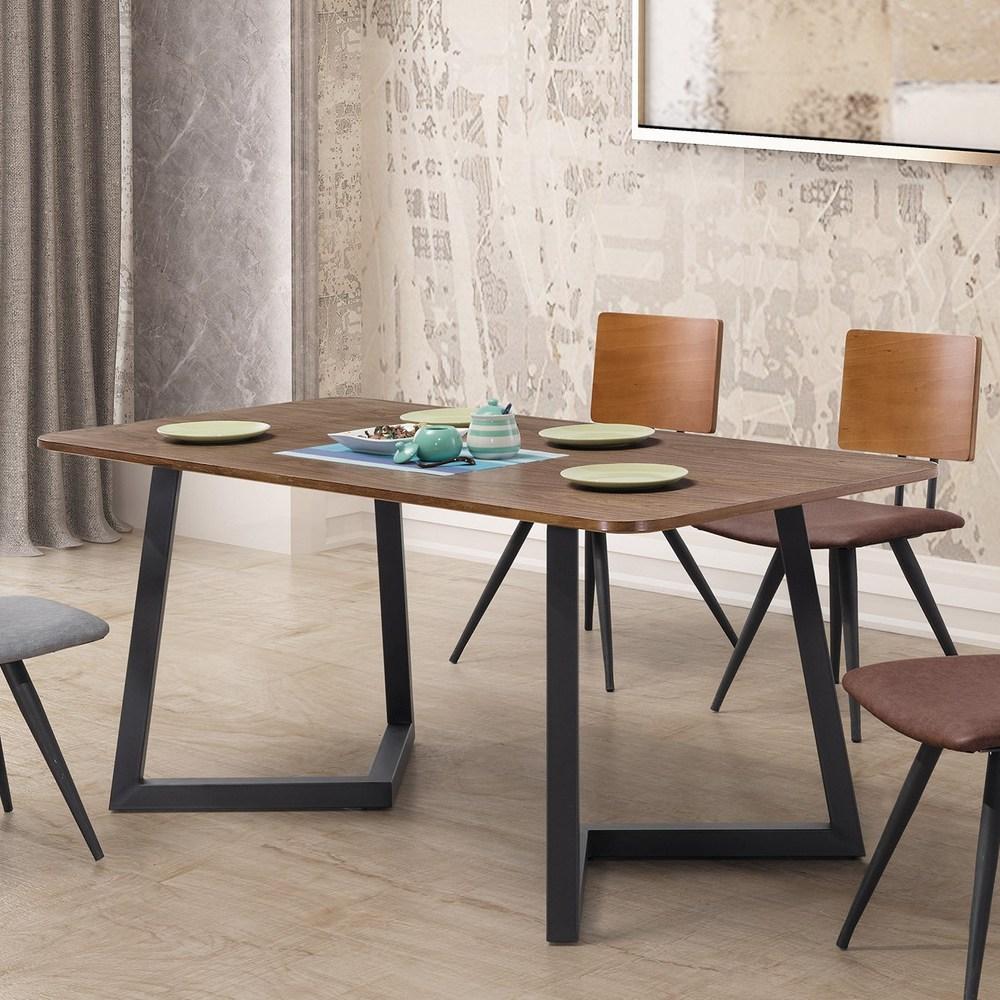 雷休工業風5.3尺餐桌