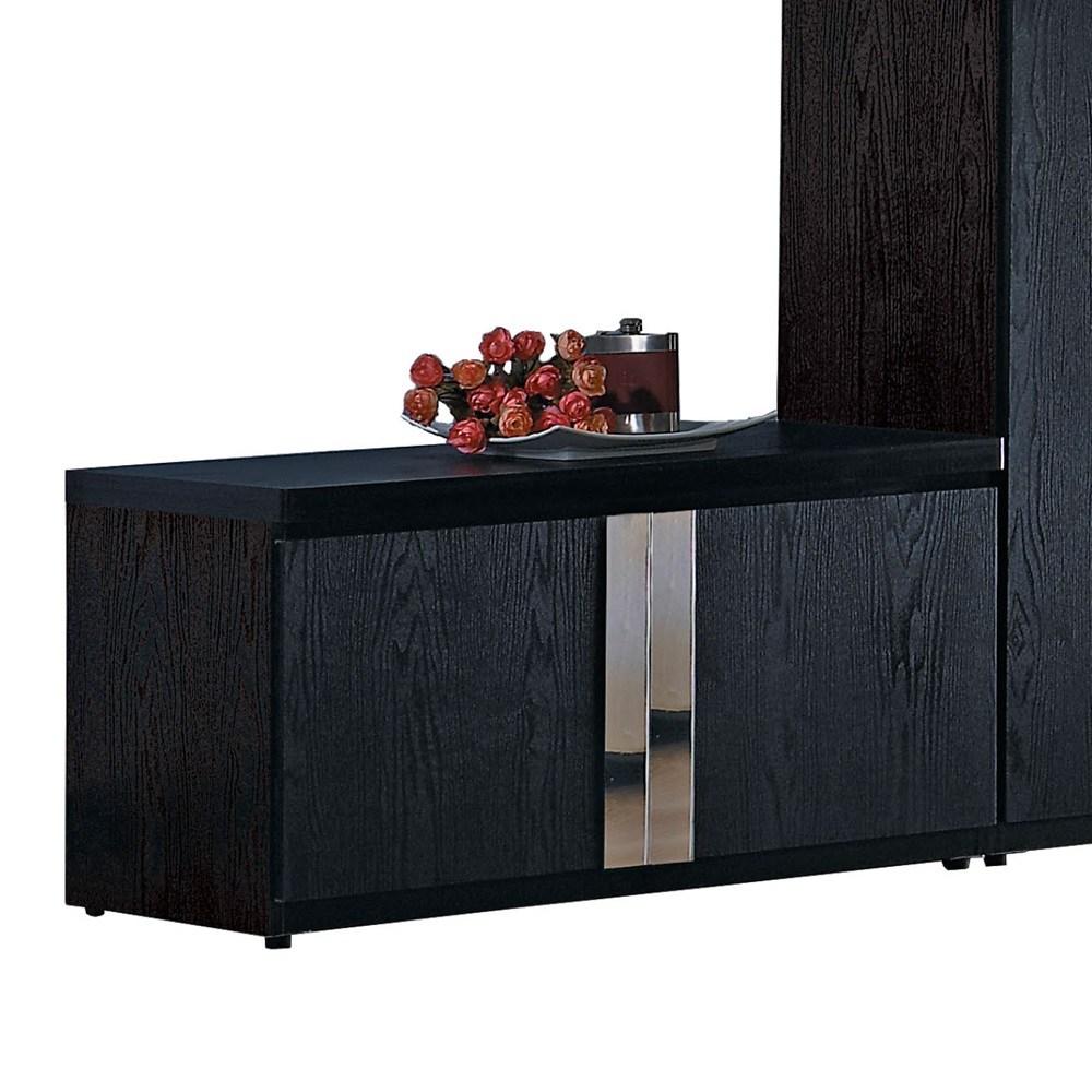 艾克2.7尺黑色座鞋櫃