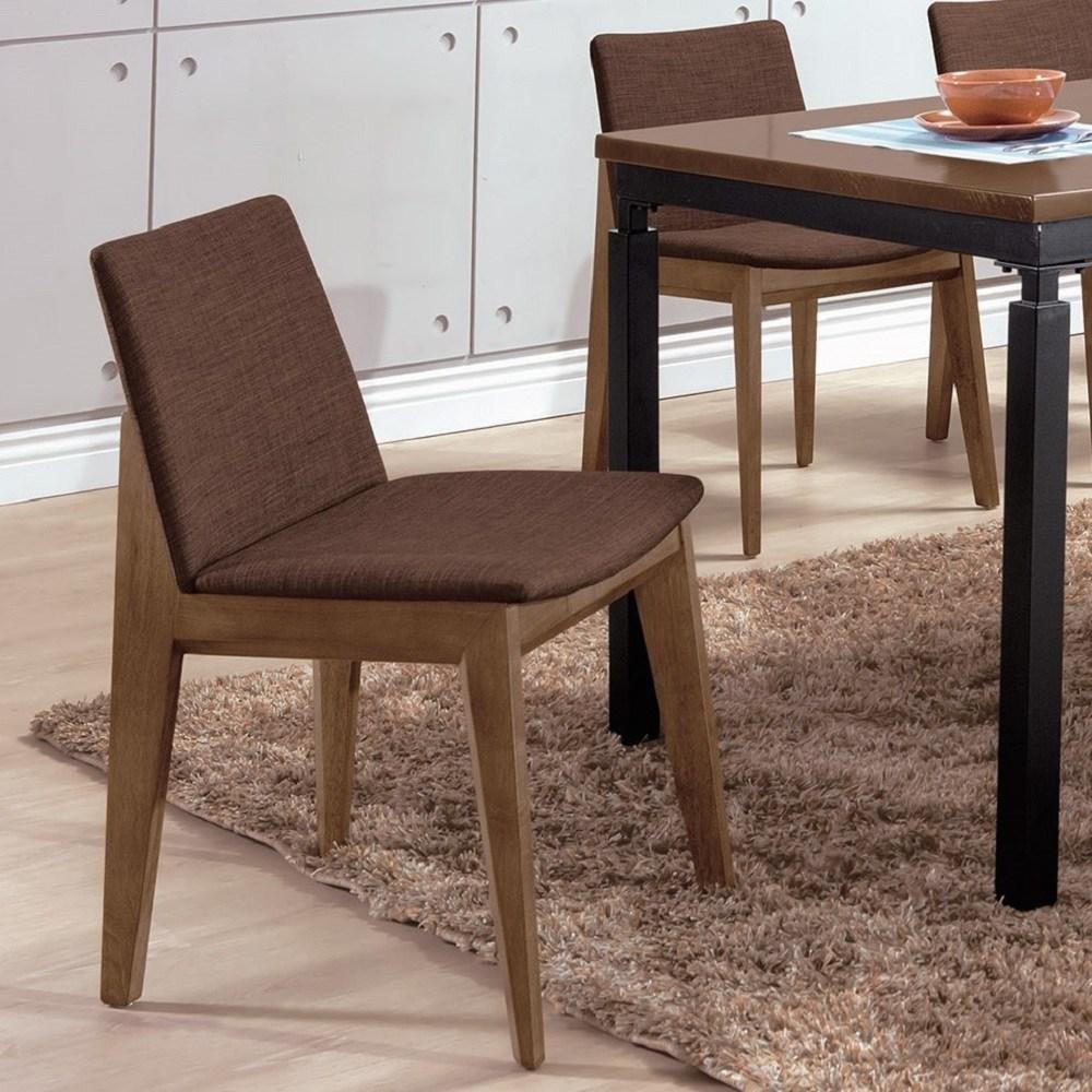 伊諾克淺胡桃咖啡布餐椅