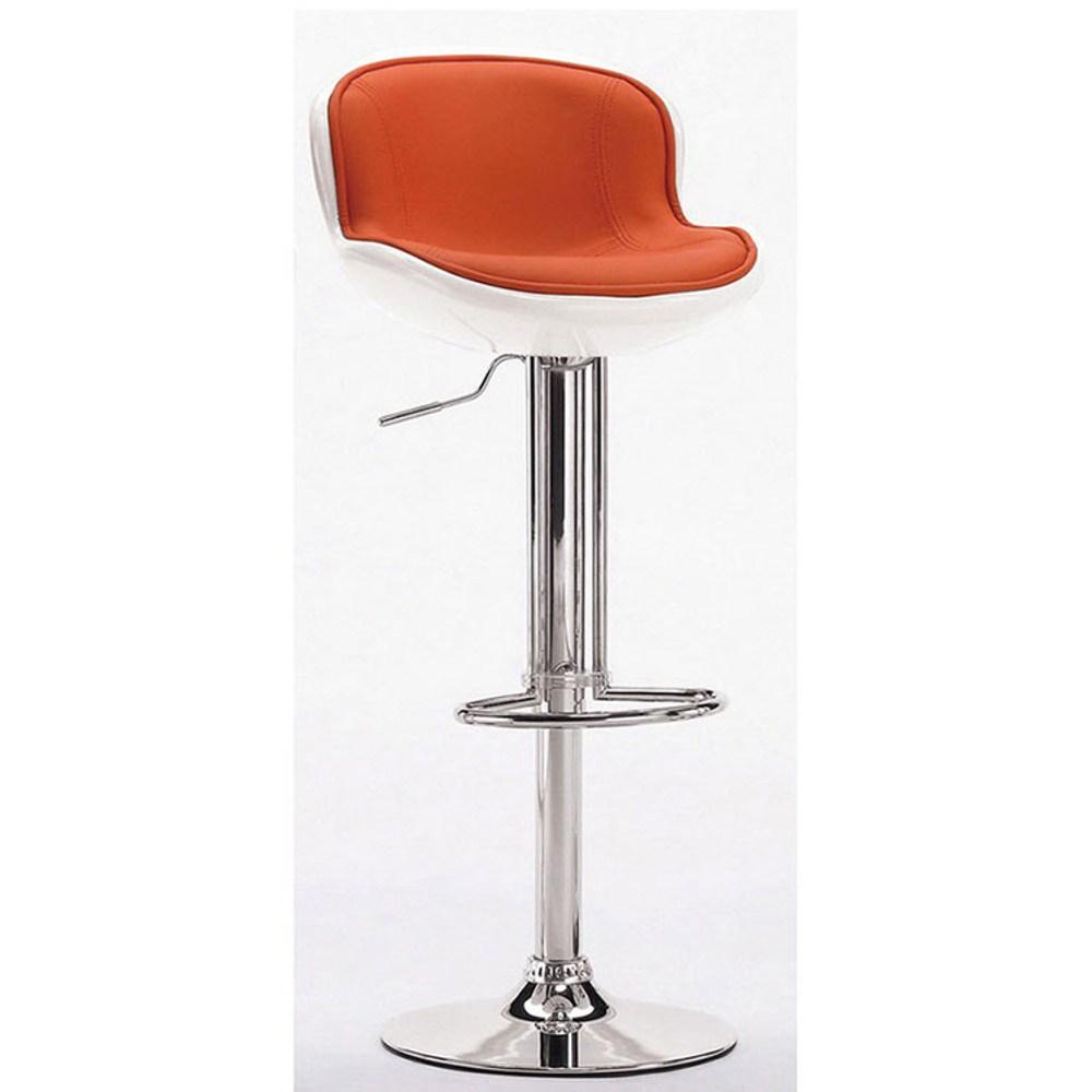 瓦特吧椅(白橘)