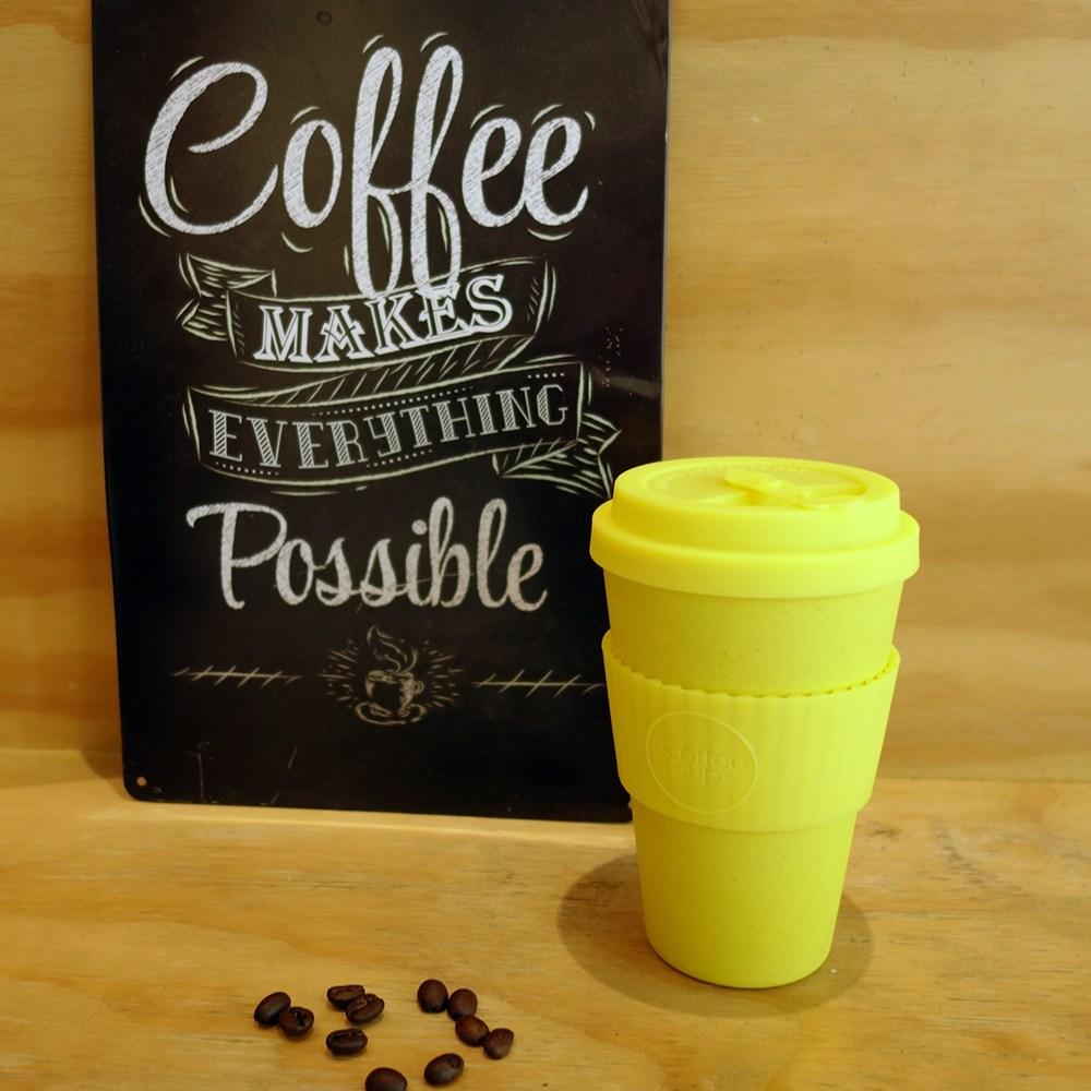 Ecoffee Cup 環保隨行杯14oz(萊姆黃)