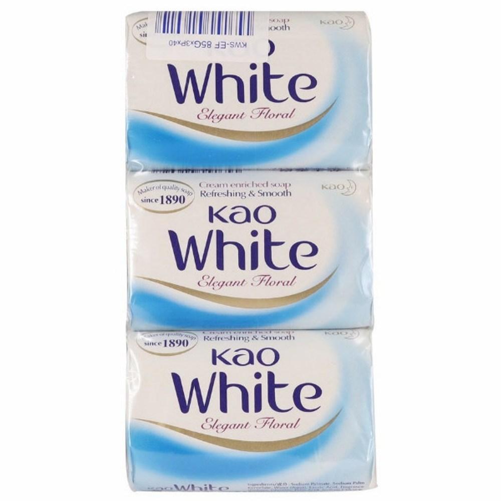 Kao White潤膚香皂-優雅花香(130g*3)/組*6