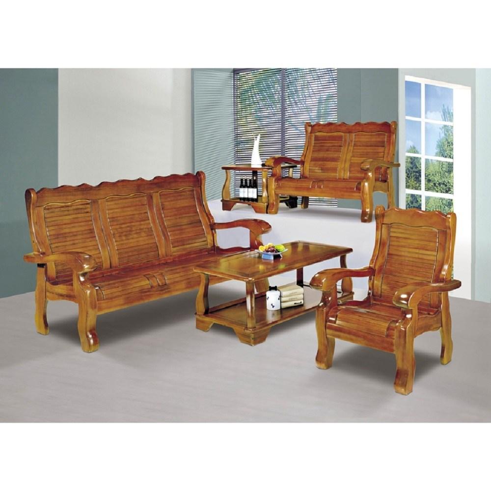南洋檜木實木板椅組