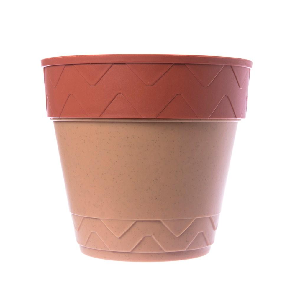 素陶盆套雙色4.5吋(磚紅)