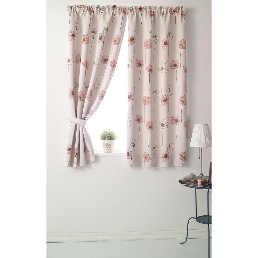 【三房兩廳】花舞幸運草遮光窗簾-粉色200X165cm