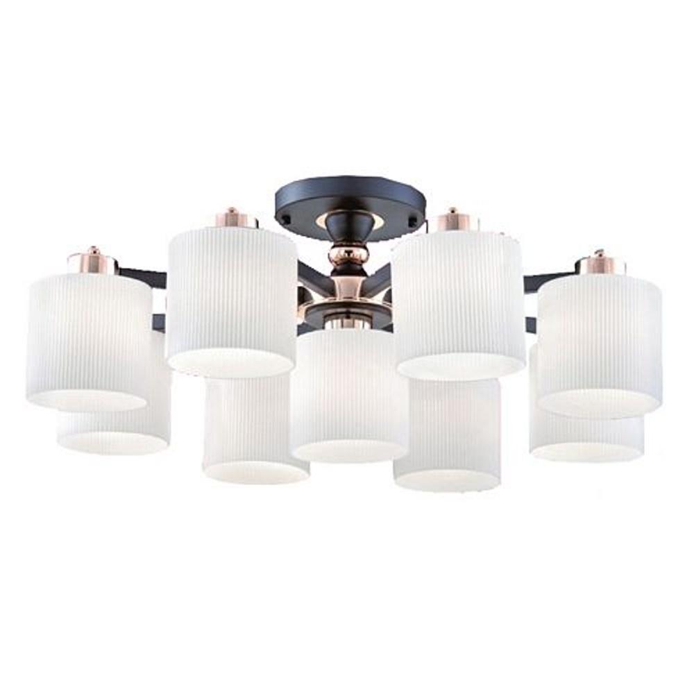 【YPHOME】現代風半吸頂8+1燈 簡易更換燈泡 附電子開關 可分段