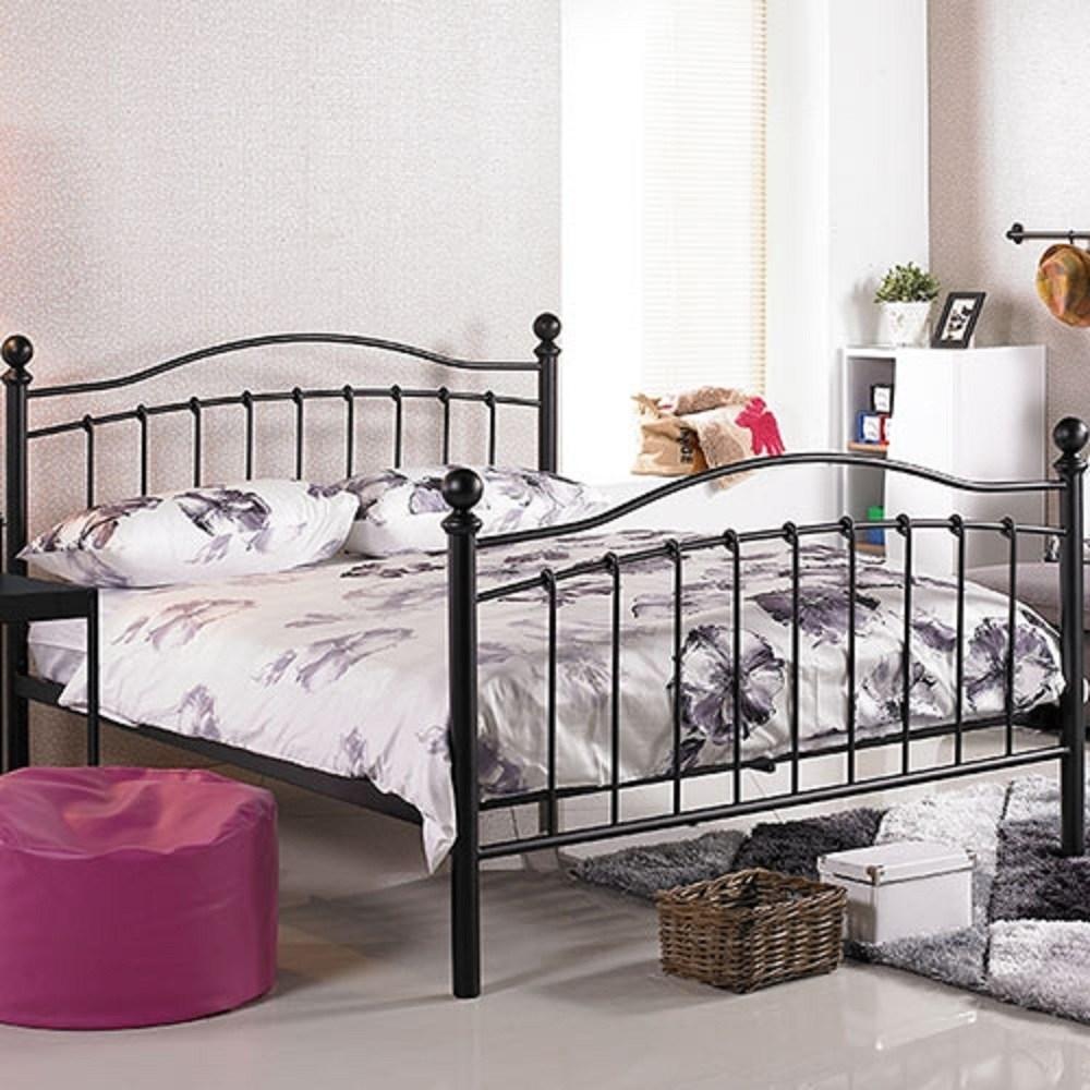 凱特兒5尺黑色鐵床床架