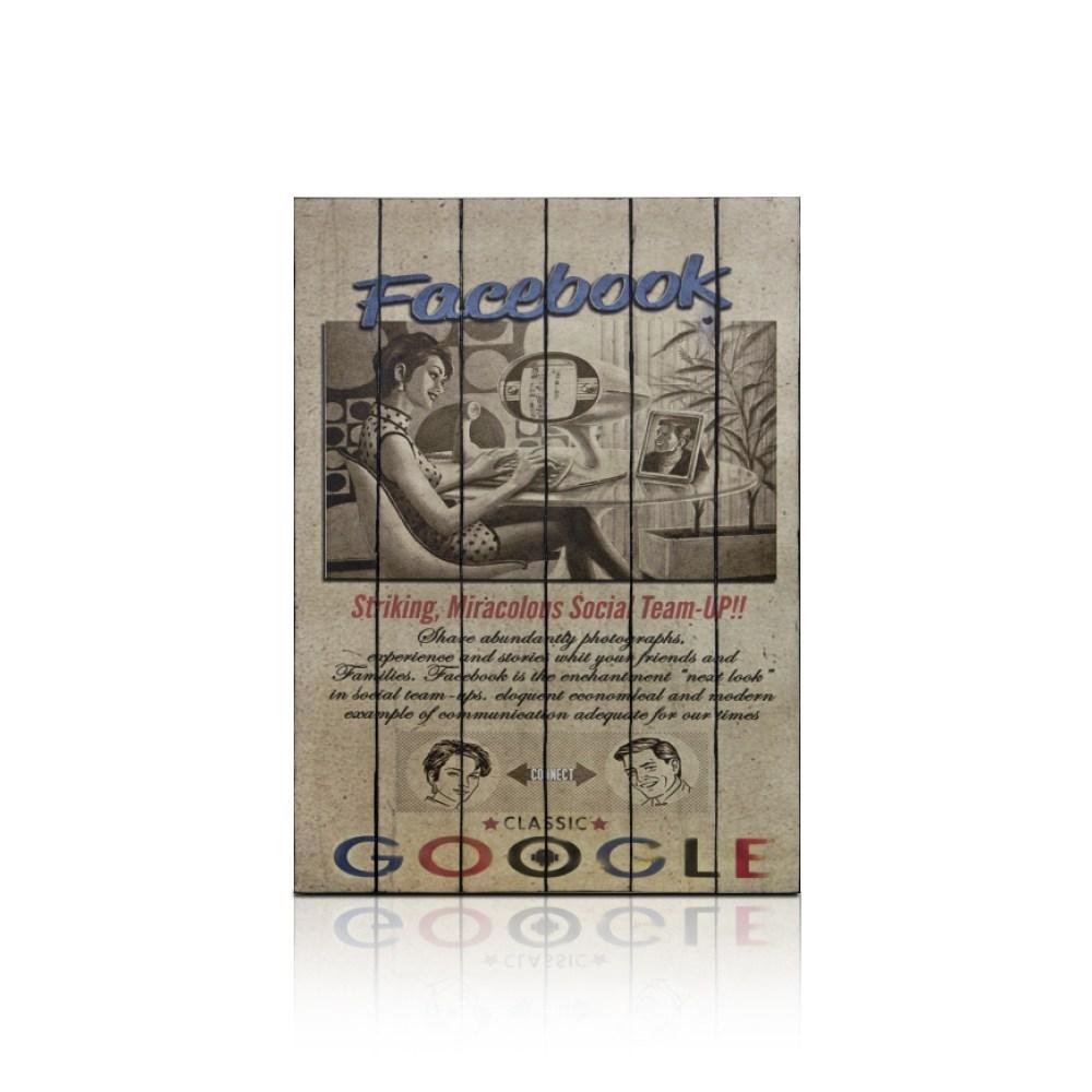 【ALMI】PAINTING-WWW 60x100 木板畫(4款可選)FACEBOOK V