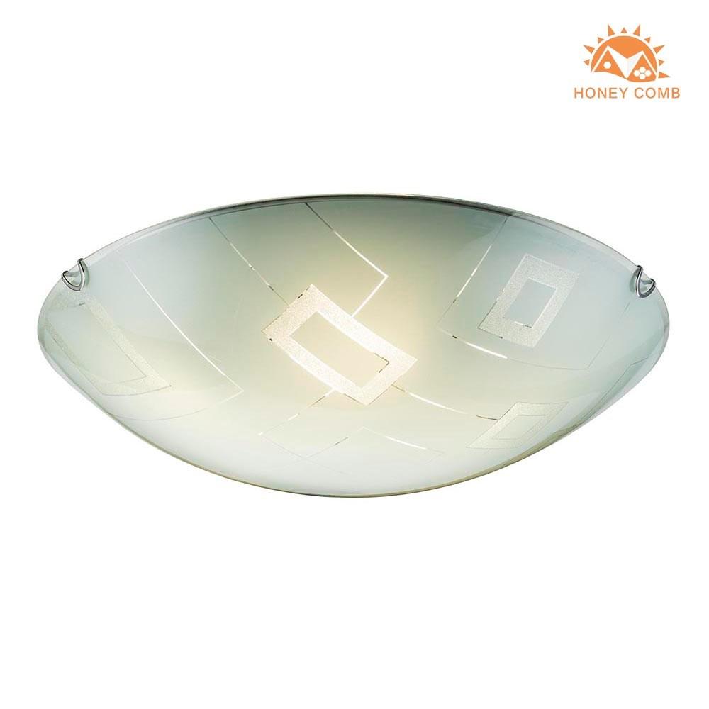 HONEY COMB 經典格紋玻璃吸頂3燈 BL-22082