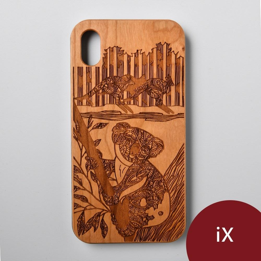 Woodu 木製手機殼 萌系無尾熊 iPhone X適用