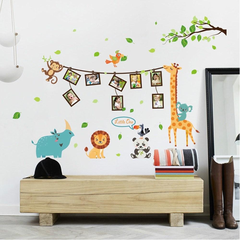 【Loviisa 回憶動物園】無痕壁貼 壁紙
