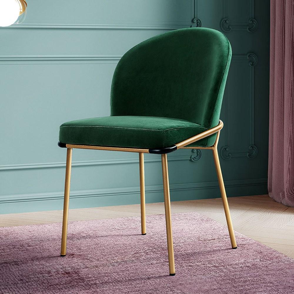 林氏木業簡約輕奢鐵藝布質餐椅兩入組 LS147