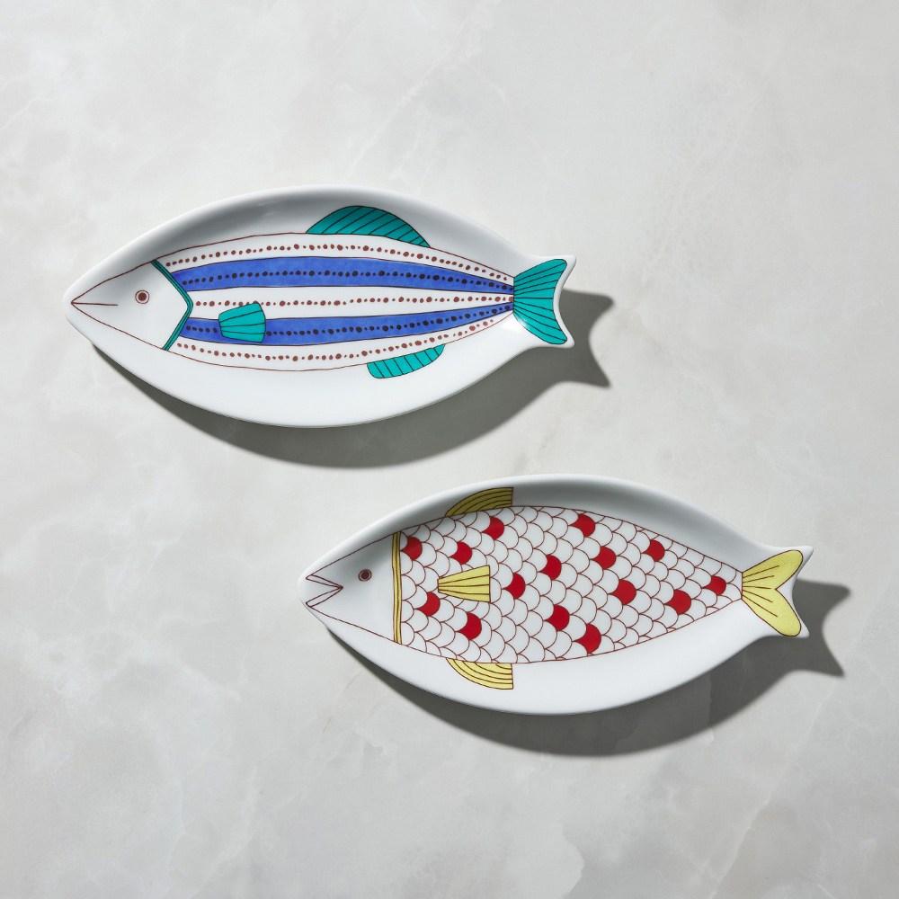 【有種創意】日本晴九谷燒 - 魚大盤(2件組)