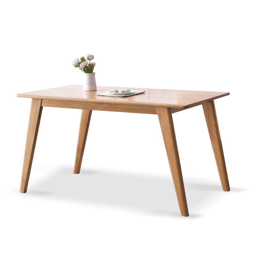 源氏木語西雅圖橡木簡約斜腳餐桌 1.4M Y90R01