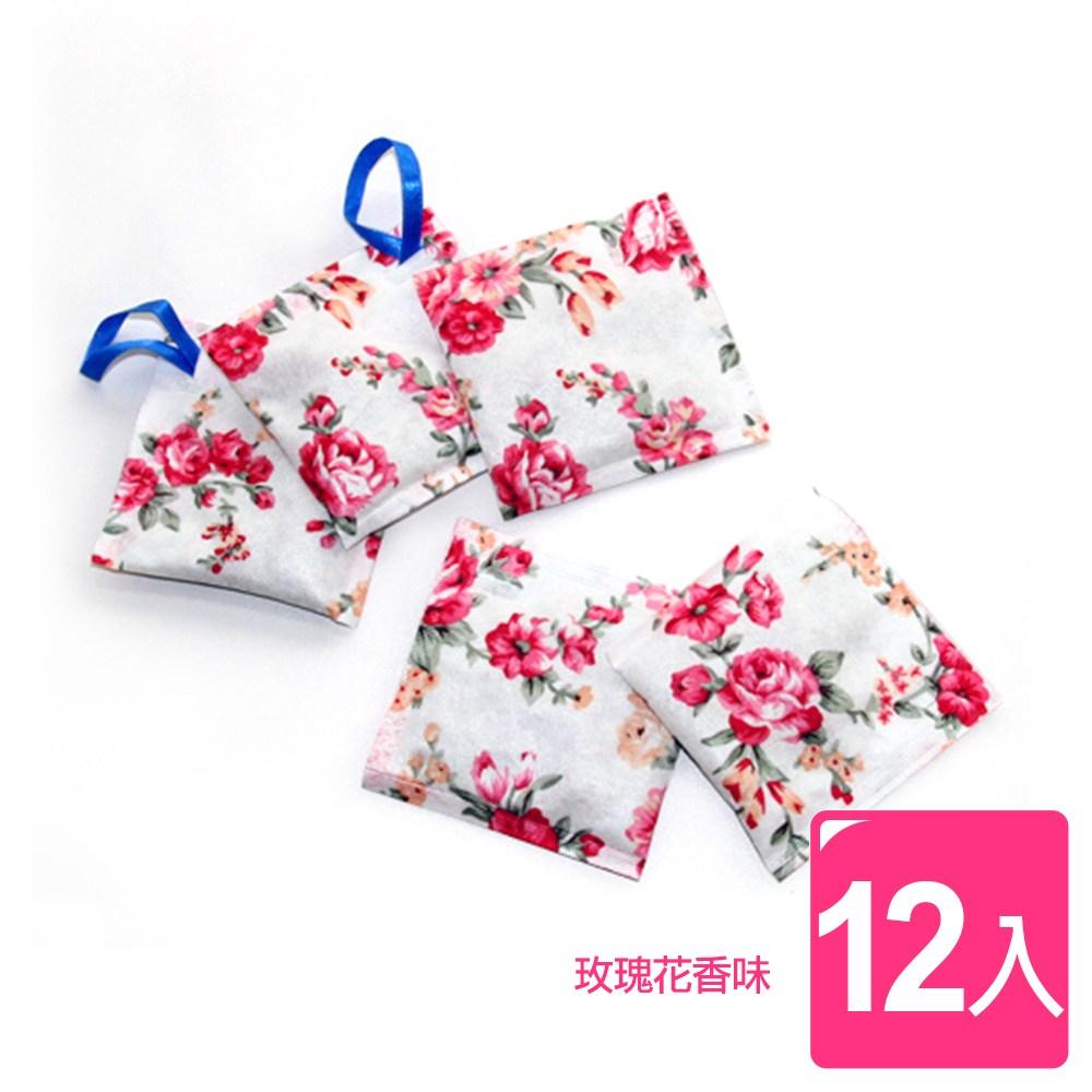 【AXIS 艾克思】WAY-BE 玫瑰花味衣物香氛袋_12入組