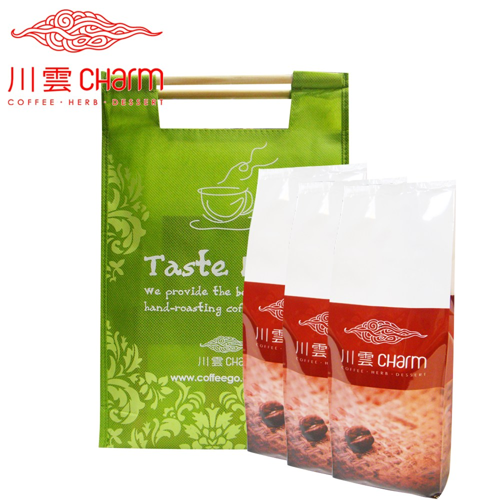 川雲 早安咖啡(半磅)&午安咖啡(半磅)&晚安咖啡(半磅) 提袋組中度3:濾紙手沖、法蘭絨