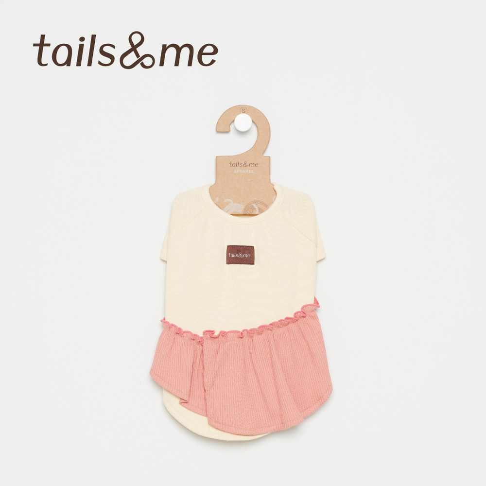 Tails&Me 尾巴與我-荷葉邊上衣(M)黃粉
