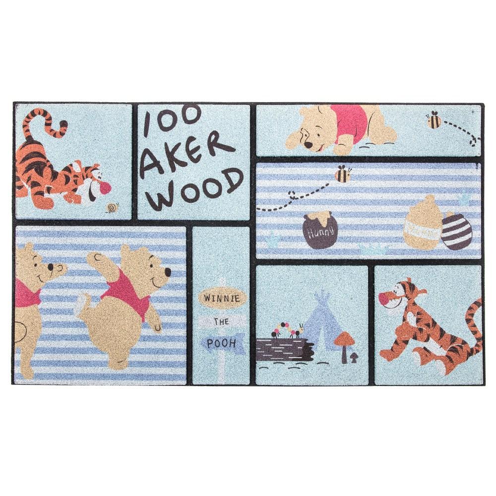 HOLA 迪士尼系列 刮泥墊 維尼款 45x76cm Winnie the Pooh
