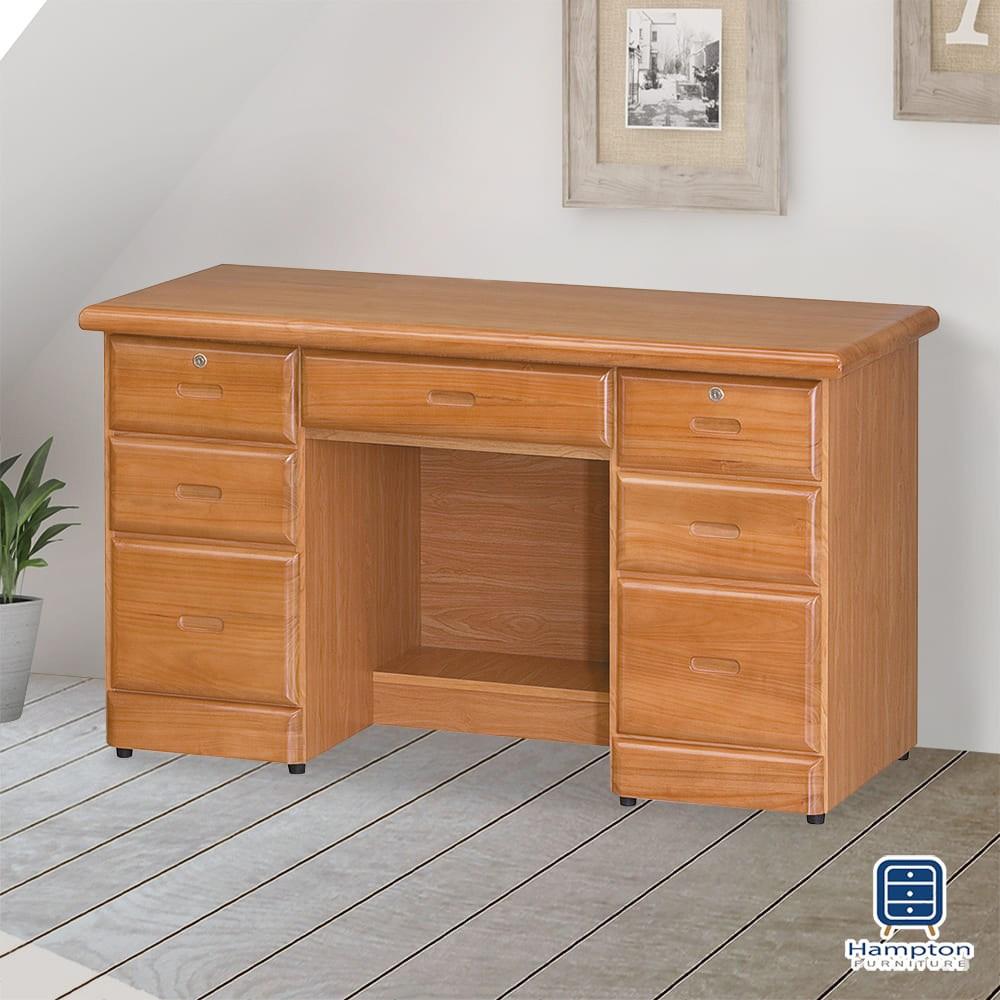 【Hampton 漢汀堡】諾蘭赤陽色4.2尺書桌