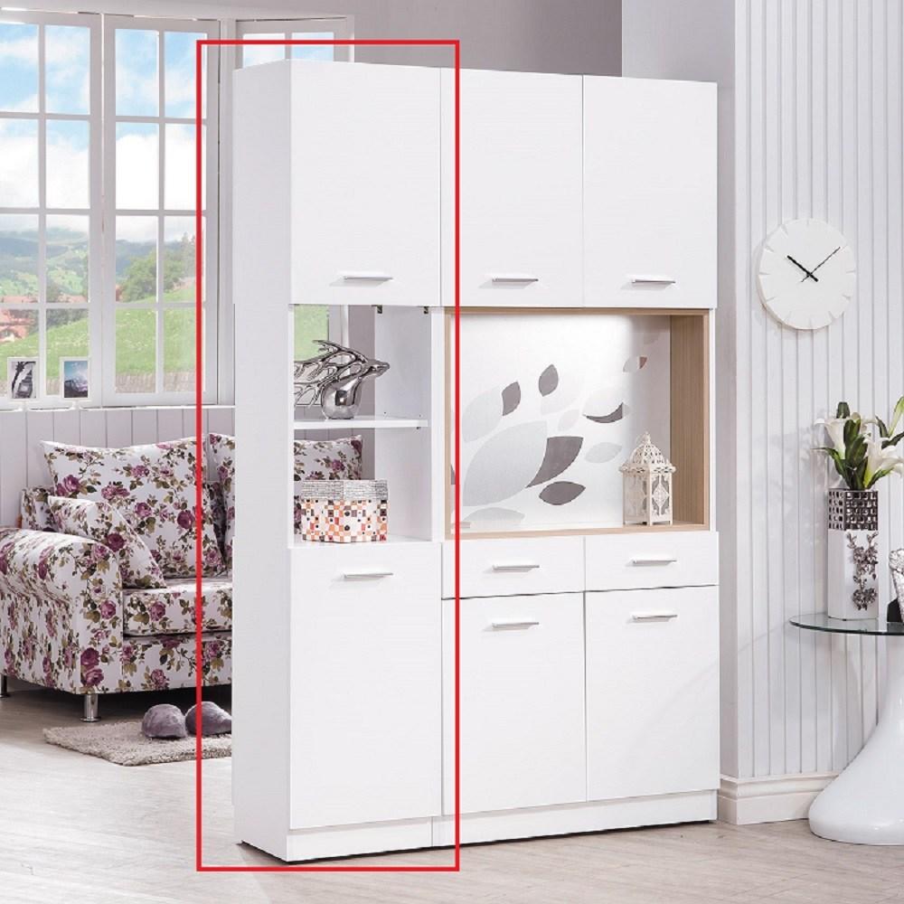 克萊兒白色1.3尺玄關中空雙面鞋櫃